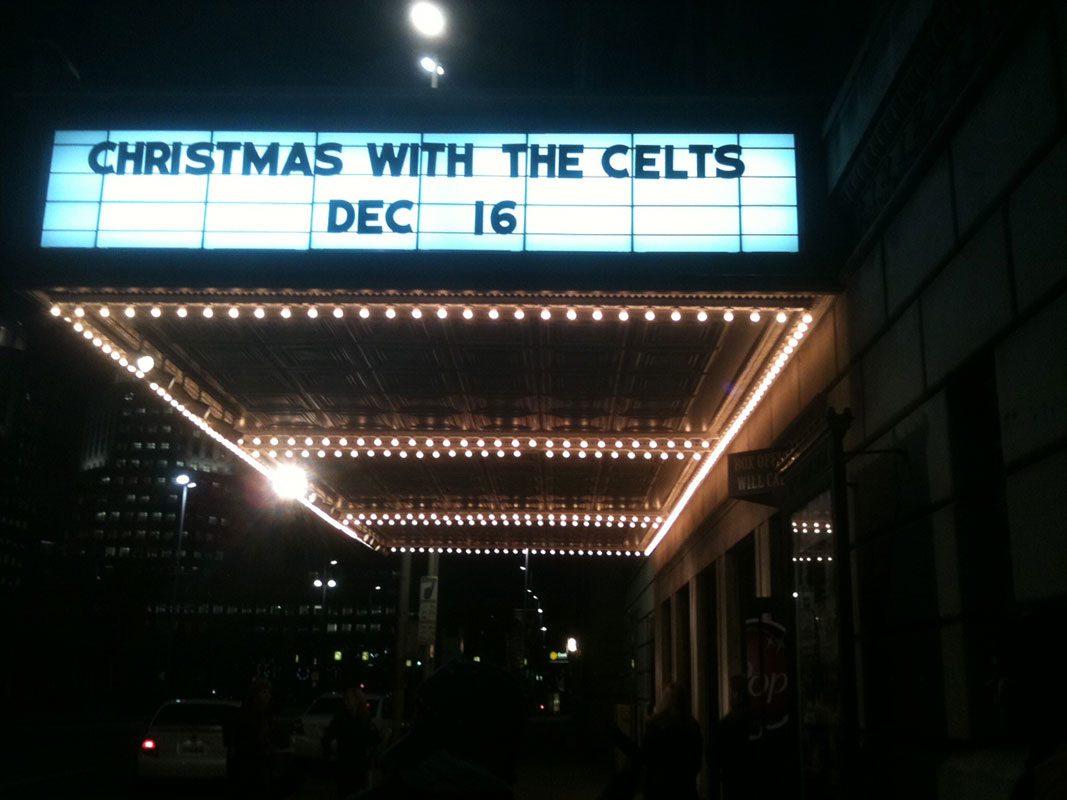 Christmas with the Celts Marquee