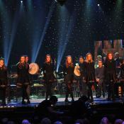 Irish stepdancers during a Christmas show